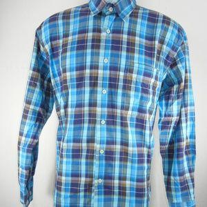 Alan Flusser Men's Long Sleeve Button Up Medium
